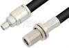 SMA Male to N Female Bulkhead Cable 36 Inch Length Using RG213 Coax, RoHS -- PE34185LF-36 -Image