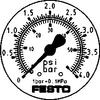 Flanged precision pressure gauge -- FMAP-63-4-1/4-EN - Image