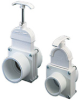 "1-1/2"" Pool Hose x MIP White Knife Gate Valve -- 21060"