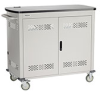 40-Device iPad and Tablet Cart - Double Frame with Hinged Door -- UCCDS40H