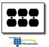 Leviton 3-Gang Duplex Device Receptacle Wallplate -- 80730