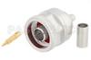 N Male Connector Crimp/Solder Attachment For RG223, RG142, RG400, RG55 -- PE44788
