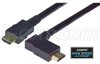 High Speed HDMI® Cable with Ethernet, Male/ Right Angle Male, Right Exit 5.0 M -- HDRA-5