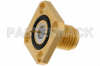 SMA Female Hermetically Sealed Connector Solder Attachment 4 Hole Flange Mount Pin Terminal, .340 inch Hole Spacing -- PE4540 -Image