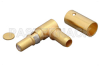 D-Sub Plug Right Angle Contact Solder Attachment for RG55, RG142, RG223, RG400 -- PE44036 - Image