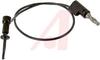 Plunger; Plug; Beryllium Copper; Gold; PVC; #20 AWG; 41 x 36; 105 degC; Black -- 70188637