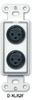 Dual XLR 3-pin Female Jacks on D Plate - Solder type -- D-XLR2F
