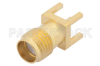 SMA Female Connector Solder Attachment Thru Hole PCB, .200 inch x .067 inch Hole Spacing -- PE44827 -- View Larger Image