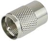 UHF Male (Plug) to Mini UHF Male (Plug) Adapter, Nickel Plated Brass Body -- SM2156 - Image