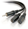 6ft One 3.5mm Stereo Male to Two 3.5mm Stereo Female Y-Cable -- 2206-40427-001