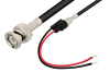 BNC Male to Unterminated Lead Cable 12 Inch Length Using RG58 Coax -- PE33565-12 -Image
