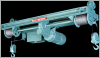 Electrolift Twin Hook Plain Trolley Monorail Hoist -- 861