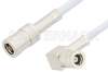 SMB Plug to SMB Plug Right Angle Cable 12 Inch Length Using RG188-DS Coax, RoHS -- PE33143LF-12 -Image