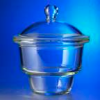 Corning PYREX Brand Knob Top Nonvacuum Glass Desiccators, Complete (Bowl and Cover) -- se-08-624-411