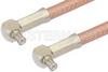 MCX Plug Right Angle to MCX Plug Right Angle Cable 36 Inch Length Using RG400 Coax -- PE35463-36 -Image