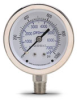 0-1000 psi / 0-7000 kPa Pressure Gauge with 2.5 inch mechanical dial -- G25-SD1000-4LS - Image
