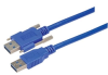 USB 3.0 Cable, Type A/A with Thumbscrew Hardware 2.0M -- MUS3A00019-2M -Image