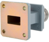 WR-62 to Type N Female End Launch Waveguide to Coax Adapter UG-1665/U Square Cover with 12.4 GHz to 18 GHz Ku Band in Aluminum, Paint -- FMWCA1072 -Image