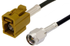 SMA Male to Curry FAKRA Jack Cable 24 Inch Length Using RG174 Coax -- PE39199K-24 -Image