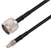 N Male to SMA Female Bulkhead Cable Assembly using RG58 Coax, 6 FT -- LCCA30668-FT6 -Image