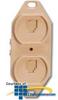 Suttle 6/6 Conductor, 110-IDC Terminals, Duplex Floor Jack.. -- 106BFDE6