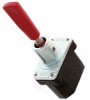 NT Series Toggle Switch, 2 pole, 2 position, Quick Connect terminal, Special Design Lever -- 32NT391-2-B02 - Image