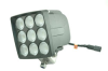 90 Watt LED light Produces 8100 lumens – Permanent Mount – 2400' X 140' spot or 1500' X 250' flood
