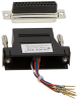 Black Modular Adapter Kit DB25 Female to RJ45 Female -- FA4525F-BK -- View Larger Image