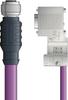 LAPP UNITRONIC® PROFIBUS® D-Sub Cordset to terminator Module - 5 positions female M12 straight to D-sub terminator - Violet PVC - Stationary - 2m -- OLFPB4110143S02 -Image
