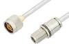 N Male to N Female Bulkhead Cable 48 Inch Length Using PE-SR401FL Coax, RoHS -- PE34150LF-48 -Image