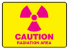 Caution Radiation Area Sign -- SGN945