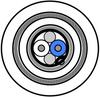 RS 485, 1PR #24 Str TC, PO ins, F/B, LSNH Jkt, 300V SWA -- 9841LS - Image