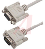 Cable;Premium Molded;Straight;DB9 Male/Female;5 Ft;9 Cond;Light Gray;Stranded -- 70126153 - Image