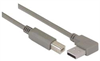 Right Angle USB Cable, Left Angle A Male/Straight B Male, 3.0m -- CA90LA-B-3M -- View Larger Image