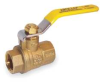 Ball Valve,2 Pc,1 In,Brass,FNPT -- 1CKD3