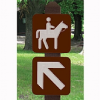 Engraved HDPE Trail Signs
