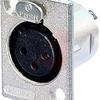 6 PIN FEM. XLR PANEL RECEPT -- 70088614 - Image