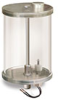 "Reservoir with Filter and Low Level Safety Switch, 1/2 gal Pyrex Reservoir, 1/2"" Male NPT -- B3177-57 -Image"