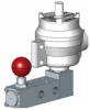 Pilot Solenoid Operated Reverse Latch Lock Manual Reset Spool Valves -- View Larger Image