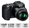 Nikon Coolpix L120 26253 Digital Camera - 14 MegaPixels, 4x -- 26253