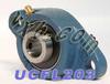 17mm Bearing UCFL203 + 2 Bolts Flanged Cast Housing -- Kit7340