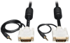DVI Dual Link Cable with Audio, Digital TMDS Monitor Cable (DVI-D and 3.5mm M/M), 6-ft. -- P560-006-A - Image