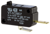 MICRO SWITCH V7 Series Miniature Basic Switch, Single Pole Normally Open Circuitry, 15 A at 250 Vac, Pin Plunger Actuator, 150 gf Maximum Operating Force, Silver Contacts, Quick Connect Termination, C -- V7-1C29D7 -Image