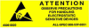 """Label, Yellow/Blk 5/8"""" x 2"""" """"Attention Observe Precautions"""" -- 306-5820 -- View Larger Image"""