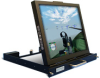 SlimLine Micro™ Rugged, 1U Rack Mount, Flip-up or Flip-down, Flat Panel LCD Monitor -- DSLM-19W-963 - Image