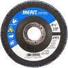 Merit ZA Coarse Center Mount Fiberglass HD Conical Flap Disc -- 08834190924 - Image