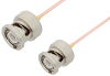 BNC Male to BNC Male Cable 6 Inch Length Using PE-047SR Coax -- PE34177-6 -Image