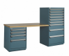 Workstation with Laminated Wood Top -- R5WH4-2001 -Image