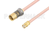 Snap-On BMA Jack to SMP Female Cable 12 Inch Length Using RG405 Coax -- PE3C4895-12 -Image