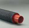 Inner Layer; Double-Ply Iron Oxide Red Silicone Coated Fiberglass Fabric Hose -- Heat-Flex® Flex-Vest® 2.0